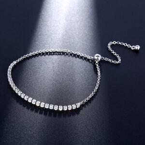 Valentine's Jewelery Gift Sweet Round Cut White Fire Topaz Silver Pull Bracelet