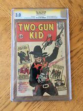 Two-Gun Kid #60 Signed by Stan Lee 1st Two-Gun Kid & Origin 3.0 GD/VG CGC RARE