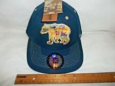 MAKERWEAR NAVY BLUE ADULT ADJUSTABLE BASEBALL/TRUCKER CAP/HAT- BEAR-NWT