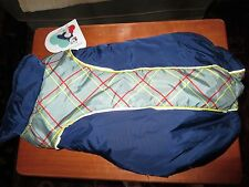 Super Cute Pet Dog Clothes Boots & Barkley Blue Quilted Jacket Size M New