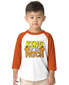 King Of The Patch Halloween Pumpkin Harvest October Toddler Raglan T-Shirt