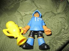 Imaginext Series 1 Figure soccer football swett shirt winner trophie AA player