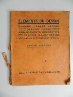 Elementos de La Dessin Gaston Quenioux Programa Crianza Nacional Delagrave 1934