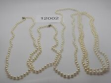 Vintage Jewelry Necklace Lot of 4 White  Beads   12002
