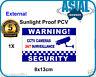 CCTV Camera Surveillance Warning Sign Weatherproof PVC Sticker Window External