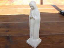 Vintage Figurine Statuette Madonna Virgin Mary Holy White