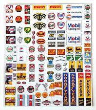 N gauge vintage garage forecourt petrol pump signs, cars, vehicles, lorries