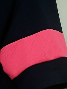 Rapha short sleeve classic 2 flyweight navy & pink jersey cycling new w/tags med