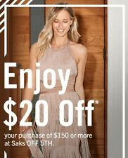 SAKS OFF 5TH Coupon $20 off $150 Online / Instore Exp 3/20