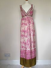 Ann Taylor Loft 100% Silk Maxi  Full Length Empire Waist Sundress Beach Summer 8