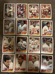 WASHINGTON REDSKINS 1988 Topps Team Set 16 Cards Monk Darrell Green Williams Etc