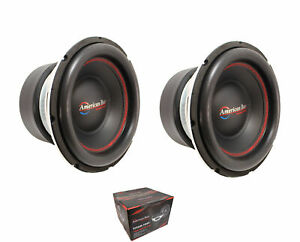 """Pair of American Bass 10"""" 3200 Watts 3"""" Dual 4 Ohm Voice Coil Subwoofer Titan"""