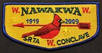 NAWAKWA OA LODGE 3 BSA ROBERT E LEE COUNCIL PATCH 1919-2009 SR7A CONCLAVE FLAP