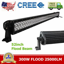 CREE 52Inch 300W LED Light Bar FLOOD OFFROAD 4WD FORD JEEP UTE TRUCK VEHICLE ATV