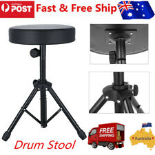 Drum Stool Throne Chair Thick Double Padded Seat Foldable Piano Guitar Keyboard