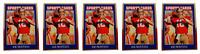 (5) 1992 Sports Cards #82 Joe Montana Football Card Lot San Francisco 49'ers