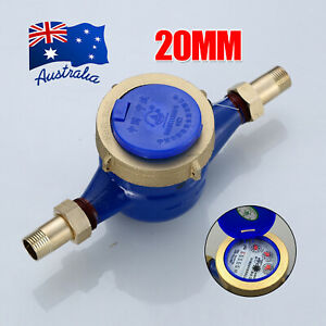 20mm Heavy Duty Brass Water Flow Measure Tape Cold Meter Home Garden Tool  D