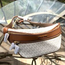 Michael Kors Women Leather Fanny Pack Hip Belt Bag Waist Purse Pouch Shoulder MK