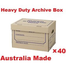 40Archive Boxes for Moving & Packing Documents Storage Cardboard Cartons