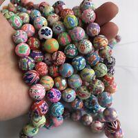 40cm Strand Polymer Clay Beads 12mm Round Handmade Jewellery Making Craft Bead