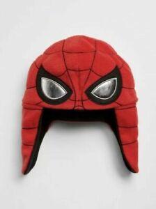 Baby Gap New Spiderman Red Fleece Trapper Hat XS/S 12-24 Months $25