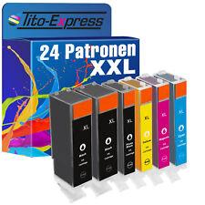 24x Tinten-Patrone XXL ProSerie für Canon TS8052 TS8051 TS8050 PGI570 CLI571