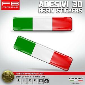 Adesivi Resinati Bandiera Nazionale Italia Italy Flag Italiana Auto Moto Bici 3D