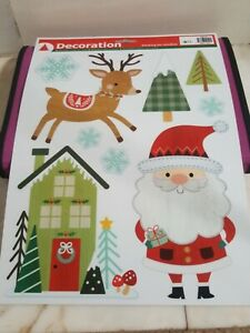 WINDOW CLINGS SNOW STICKERS CHRISTMAS DECORATIONS