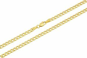"""10k Yellow Gold Cuban Curb Link Chain Necklace 3.5mm-5.5mm Size 16""""-30"""""""