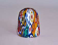 Vintage Fratelli Toso Murano Millefiori Murrine Cane SATIN Glass Thimble