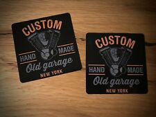2x Custom Autocollant Sticker biker moto v2 Twin Old Garage Hand Made #162