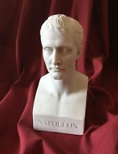 Napoleon Bust Statue White Marble - Made in Europe (8in/20cm)