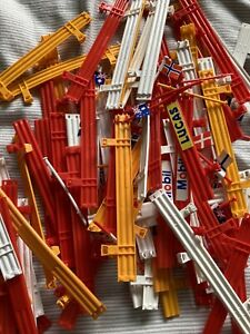 Scalextric C274 72x Armco Crash Barriers All Clips In Tact Plus Flags Bundle