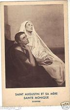 Art - cpa - Saint Augustin et sa mère Sainte Monique par SCHEFFER