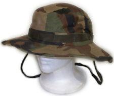 U.S Boonie Hat Cap w/ Chin Strap - Woodland Camo