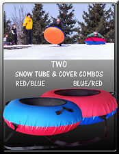 2-PACK Huge SNOW TUBE & COVER COMBOS