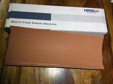 Hiretech HTF 10 floor sander self  abrasive sheets 80 grit Free P&P