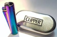 CLIPPER Engraved Metal  Rainbow Personalised Lighter birthday christmas gift box