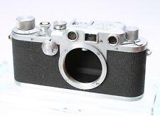 LEICA LEITZ IIIc 35MM FILM CAMERA RANGEFINDER LTM BODY No. 438914 - SHARKSKIN