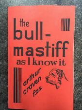 bull mastiff dogs rare showing standards breeding Craven mastiffs fighting Cruft