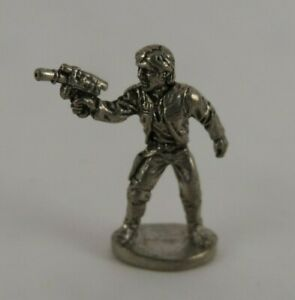 Han Solo Pewter Monopoly Game Token - Star Wars Classic Trilogy Edition 1990s