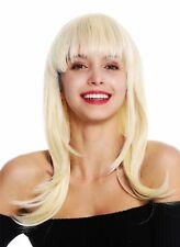 Peluca Mujer de Largo Liso Ligero Escalonado Flequillo Rubio Platino  3268-613 55bf00685262