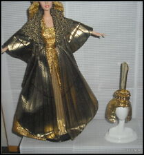 OUTFIT ONLY BARBIE ELIZABETH TAYLOR CLEOPATRA EVENING GOWN DRESS CROWN SHOES