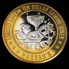 1994 CT Harrah's Hotel Casino .999 Silver Strike $10 Mardi Gras Token ;HHC9405