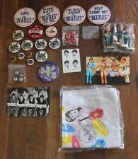 Lot of The Beatles Memorabilia Nodders Pins Trinkets Postcards Fan Merchandise