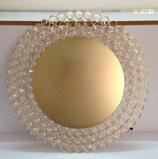 Crystal Gold Charger Plates Gold Charger Plates with Crystal Beads 1 Piece