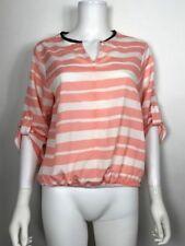 Stitch Fix Collective Concepts Top Sz M Medium Striped Pink White Blouse Top
