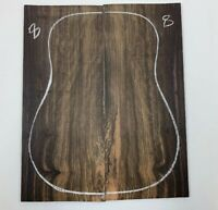 FIGURED  DREADNOUGHT  EBONY GUITAR TOPS OM LUTHIER TONEWOOD BOOK MATCHED  #8