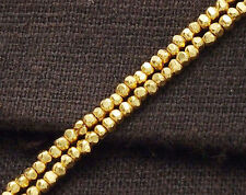 Karen hill tribe 24k Gold  Vermeil Style  110 Faceted Seed Beads 1.8x1 mm.