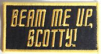 "Star Trek ""Beam Me Up, Scotty!"" Logo  4"" Embroidered Patch- FREE S&H (STPAT-53)"